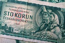 Old Czechoslovak Banknotes Royalty Free Stock Image