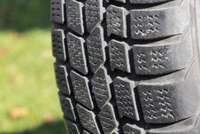 Old Car Tire Outdoor. Stock Photography
