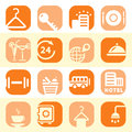 Free Color Hotel Business Icons Royalty Free Stock Photo - 29517505