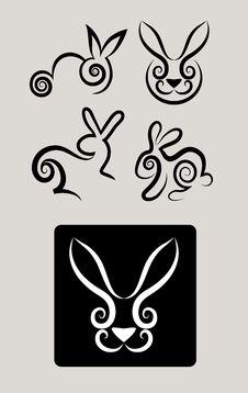 Free Rabbit Symbols 1 Royalty Free Stock Image - 29512636