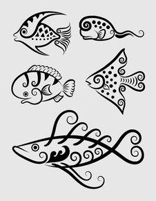 Free Fish Decorative Symbols 1 Stock Image - 29512751