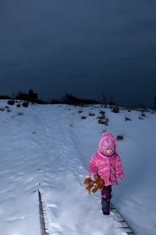 Free Sad Girl Walking Away Stock Image - 29519301