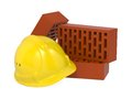 Free Safety Helmet And Bricks. Royalty Free Stock Images - 29536199