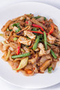 Free Flat Rice Noodle Stir Fried Withseafood. Royalty Free Stock Photography - 29537577