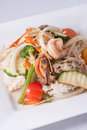 Free Stir Fried Ginger Sauce Seafood With Rice Stock Photography - 29537592