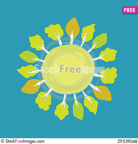 Free Tree Frame Royalty Free Stock Photos - 29539068