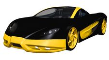 Black Sports Toy Car