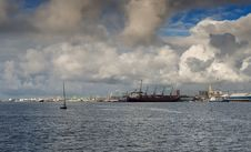 View On Sea Port Of Klaipeda Stock Images