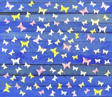 Free Butterfly Pattern Royalty Free Stock Photo - 29534275