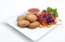 Thai Appetizer, Spicy Fried Fish Cake &x28;Tod Mun Pla&x29; Stock Photos