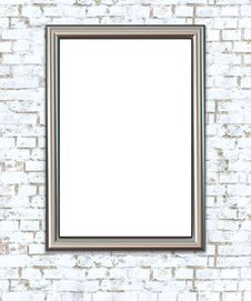 Free Empty Frame On Wall. Royalty Free Stock Photography - 29536227