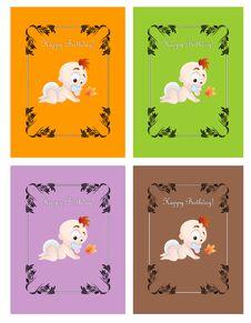 Free Kids Birthday Cards Stock Photos - 29536343