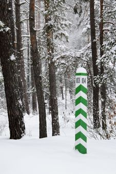 Free Sign In The Winter Forest Royalty Free Stock Images - 29536919