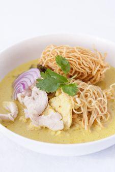 Free Khao Soi , Curry Noodles , Thai Food Stock Image - 29537231