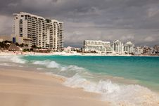 Free Cancun Beach In Mexico Stock Photography - 29538512