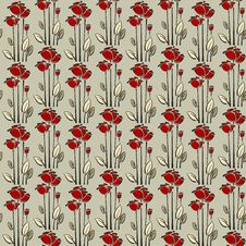 Free Floral Seamless Pattern With Rose Stock Photos - 29539303