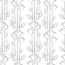Free Floral Seamless Pattern With Rose Stock Photo - 29539340