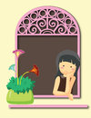 Free Girl At The Window Royalty Free Stock Photo - 29546195