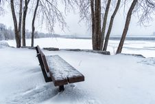 Free Bench On The River Royalty Free Stock Image - 29540366