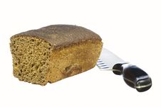 Free Rye Bread And A Knife Stock Photo - 29541360