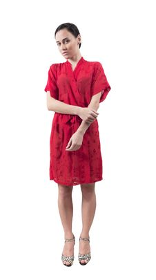 Free Girl In Red Dressing Gown Stock Images - 29542794