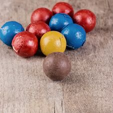 Free Dark Brown Chocolate Balls Stock Photo - 29543030