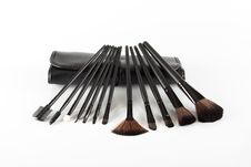 Free Make Up Brushes SET Royalty Free Stock Images - 29543619
