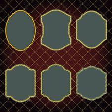 Free Set Of Design Elements-golden Vintage Frames. Stock Images - 29545094