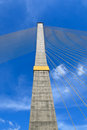Free The Pole Of Cable Bridge Stock Image - 29557241