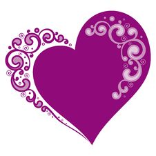 Free Stylized Heart For Valentines Day Royalty Free Stock Photo - 29555385