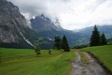 View On The Eiger And Grindelwald Valley Switzerla Royalty Free Stock Images