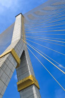 Free The Pole Of Cable Bridge Stock Images - 29557484