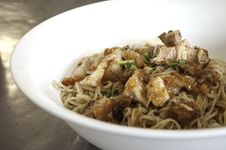 Thai Food, Sizzling Crispy Noodle Royalty Free Stock Photography