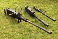 Free Military Heavy Guns. Royalty Free Stock Photography - 29558577