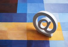 E-mail @ Sign On Colorful Background Royalty Free Stock Photography