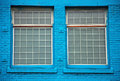 Free Windows In Blue Wall Royalty Free Stock Images - 29564649