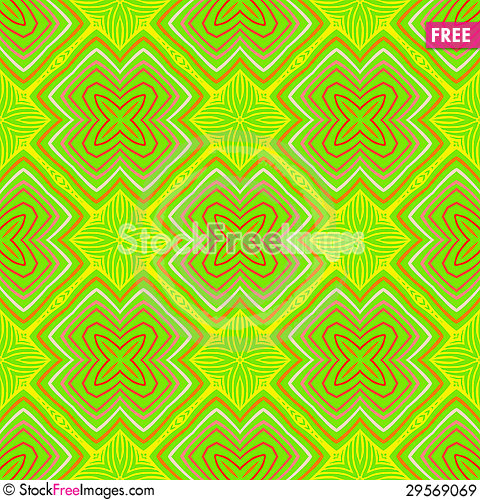 Free Geometric Psychedelic Sixties Pattern Royalty Free Stock Images - 29569069