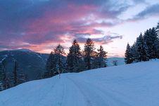 Dolomites Landscape At Sunset Royalty Free Stock Photo