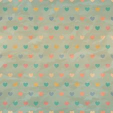 Free Crumpled Retro Seamless With Coloured Hearts Stock Images - 29561294
