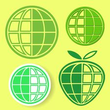 Free Globe Logo Set Royalty Free Stock Photography - 29561447