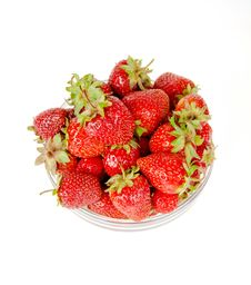 Free Plate With Strawberries View From The Top Stock Photography - 29562412