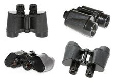 Old Black Binoculars. Stock Photo