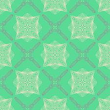 Pattern In Emerald Green, Delicate Elegant Lines Royalty Free Stock Photos