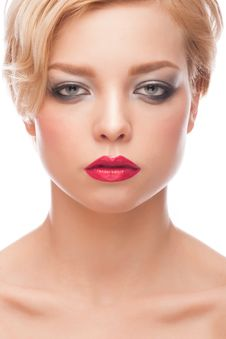 Free Woman With Stylish Makeup Stock Image - 29576241