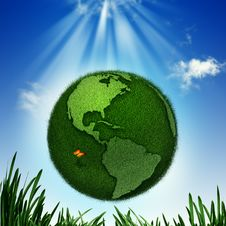 Free Green Earth. Royalty Free Stock Photo - 29577005