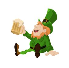 Free Leprechaun With Beer Stock Photo - 29577580