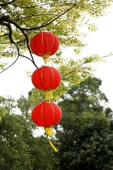 Free Hanging Red Lanterns Royalty Free Stock Photo - 29578265