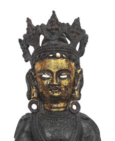 Free Oriental Metal Mask Figure Isolated. Stock Photography - 29579662