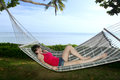 Free Woman Relaxing On Hammock Royalty Free Stock Photography - 29580187