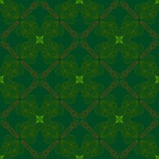 Victorian Dark Green Vintage Pattern Stock Photography